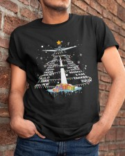 PILOT GIFT - THE ALPHABET XMAS TREE  Classic T-Shirt apparel-classic-tshirt-lifestyle-26