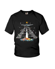 PILOT GIFT - THE ALPHABET XMAS TREE  Youth T-Shirt thumbnail