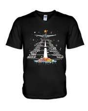 PILOT GIFT - THE ALPHABET XMAS TREE  V-Neck T-Shirt thumbnail
