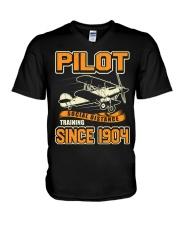 PILOT SOCIAL DISTANCE TRAINING SINCE 1904 V-Neck T-Shirt thumbnail