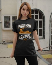 PONTOON FUNNY GIFTS - RIDE THE PONTOON CAPTAIN Classic T-Shirt apparel-classic-tshirt-lifestyle-19