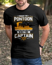 PONTOON FUNNY GIFTS - RIDE THE PONTOON CAPTAIN Classic T-Shirt apparel-classic-tshirt-lifestyle-front-52