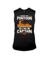 PONTOON FUNNY GIFTS - RIDE THE PONTOON CAPTAIN Sleeveless Tee thumbnail