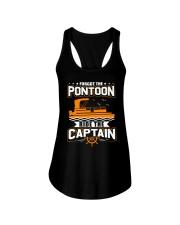PONTOON FUNNY GIFTS - RIDE THE PONTOON CAPTAIN Ladies Flowy Tank thumbnail