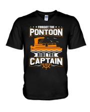 PONTOON FUNNY GIFTS - RIDE THE PONTOON CAPTAIN V-Neck T-Shirt thumbnail