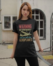 PILOT GIFT - TALK ABOUT AEROPLANES Classic T-Shirt apparel-classic-tshirt-lifestyle-19