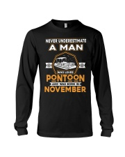 PONTOON BOAT GIFT - NOVEMBER PONTOON MAN Long Sleeve Tee thumbnail