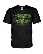 CRAFT BEER LOVER - NOBREWPHOBIA V-Neck T-Shirt thumbnail