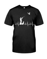 DUCK HUNTING HEARTBEAT Classic T-Shirt front