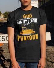 PONTOON BOAT GIFT - GOD FAMILY THEN PONTOON Classic T-Shirt apparel-classic-tshirt-lifestyle-29