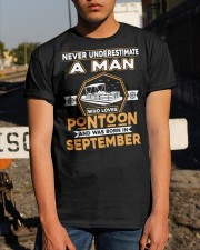 PONTOON BOAT GIFT - SEPTEMBER PONTOON MAN Classic T-Shirt apparel-classic-tshirt-lifestyle-29