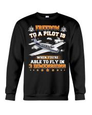 AIRPLANE GIFTS  - DIMENSION OF FLYING Crewneck Sweatshirt thumbnail