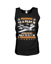 AIRPLANE GIFTS  - DIMENSION OF FLYING Unisex Tank thumbnail