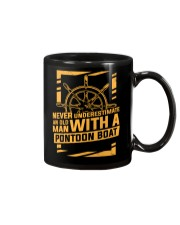 NEVER UNDERESTIMATE AN OLD MAN WITH A PONTOON BOAT Mug thumbnail