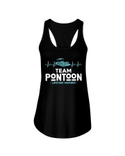 PONTOON BOAT GIFT - PONTOON TEAM Ladies Flowy Tank thumbnail