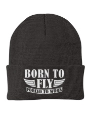 AVIATION RELATED GIFTS - BORN TO FLY Knit Beanie thumbnail