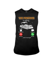 PONTOON BOAT GIFT - THE PONTOON IS CALLING Sleeveless Tee thumbnail