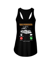 PONTOON BOAT GIFT - THE PONTOON IS CALLING Ladies Flowy Tank thumbnail