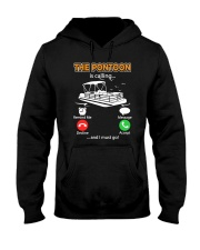 PONTOON BOAT GIFT - THE PONTOON IS CALLING Hooded Sweatshirt thumbnail