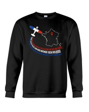 AIRPLANE GIFTS - FRANCE FLAG ALPHABET Crewneck Sweatshirt thumbnail