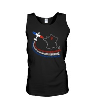 AIRPLANE GIFTS - FRANCE FLAG ALPHABET Unisex Tank thumbnail