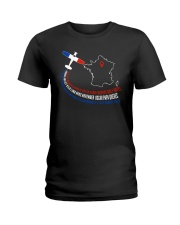 AIRPLANE GIFTS - FRANCE FLAG ALPHABET Ladies T-Shirt thumbnail