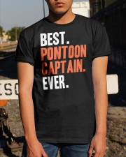 PONTOON BOAT GIFT - BEST PONTOON CAPTAIN EVER Classic T-Shirt apparel-classic-tshirt-lifestyle-29