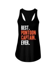 PONTOON BOAT GIFT - BEST PONTOON CAPTAIN EVER Ladies Flowy Tank thumbnail