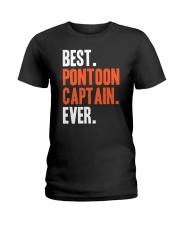 PONTOON BOAT GIFT - BEST PONTOON CAPTAIN EVER Ladies T-Shirt thumbnail