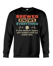 She - A Brewer Knows Everything Crewneck Sweatshirt thumbnail