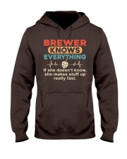 She - A Brewer Knows Everything Hooded Sweatshirt thumbnail