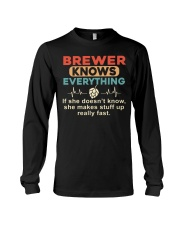 She - A Brewer Knows Everything Long Sleeve Tee thumbnail