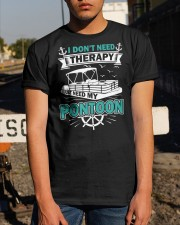 PONTOON BOAT GIFT - I DON'T NEED THERAPY Classic T-Shirt apparel-classic-tshirt-lifestyle-29