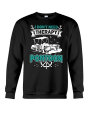 PONTOON BOAT GIFT - I DON'T NEED THERAPY Crewneck Sweatshirt thumbnail