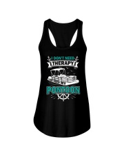 PONTOON BOAT GIFT - I DON'T NEED THERAPY Ladies Flowy Tank thumbnail
