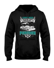 PONTOON BOAT GIFT - I DON'T NEED THERAPY Hooded Sweatshirt thumbnail