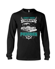 PONTOON BOAT GIFT - I DON'T NEED THERAPY Long Sleeve Tee thumbnail