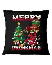 DRUNK SANTA Square Pillowcase thumbnail