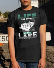 PONTOON BOAT GIFT - LIFE IS BETTER AT THE LAKE Classic T-Shirt apparel-classic-tshirt-lifestyle-29