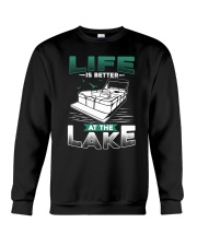 PONTOON BOAT GIFT - LIFE IS BETTER AT THE LAKE Crewneck Sweatshirt tile
