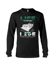PONTOON BOAT GIFT - LIFE IS BETTER AT THE LAKE Long Sleeve Tee thumbnail