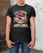 PILOT GIFT - PLAYING WITH AIRPLANES Classic T-Shirt apparel-classic-tshirt-lifestyle-31