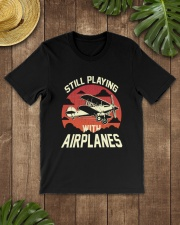 PILOT GIFT - PLAYING WITH AIRPLANES Classic T-Shirt lifestyle-mens-crewneck-front-18