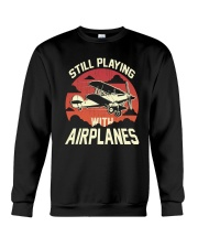 PILOT GIFT - PLAYING WITH AIRPLANES Crewneck Sweatshirt thumbnail
