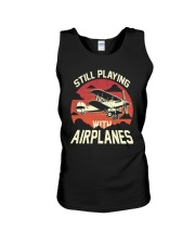 PILOT GIFT - PLAYING WITH AIRPLANES Unisex Tank thumbnail