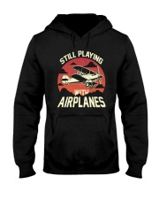 PILOT GIFT - PLAYING WITH AIRPLANES Hooded Sweatshirt thumbnail