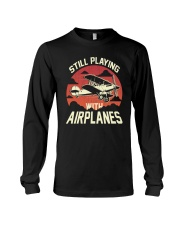 PILOT GIFT - PLAYING WITH AIRPLANES Long Sleeve Tee thumbnail