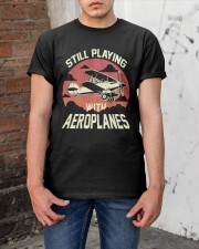 PILOT AVIATION - STILL PLAYING WITH AEROPLANES Classic T-Shirt apparel-classic-tshirt-lifestyle-31