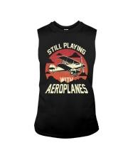 PILOT AVIATION - STILL PLAYING WITH AEROPLANES Sleeveless Tee thumbnail