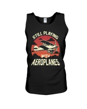 PILOT AVIATION - STILL PLAYING WITH AEROPLANES Unisex Tank thumbnail